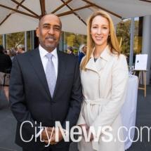United Arab Emirates ambassador Dr Obaid AlKetbi and Lifeline CEO Carrie Leeson