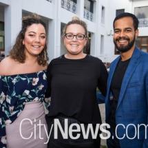 Jess Brack, Kate Moulds and Rahul Bedi