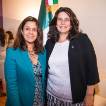Luz Gasparri and Veronica Cartaya