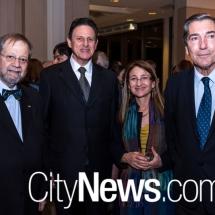 Manuel Innocencio de Lacerda Santos Jr, Juan Salazar Sancisi, Dr Elizabeth Mayer and Manuel Cacho