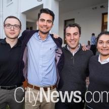 Matt Collins, Anthony McPhee, Sam Mitchell and Barbara Solonos