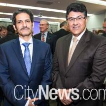 Meshal Alrogi and Libya ambassador Musbah Allafi