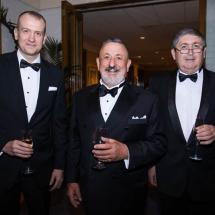 Stuart Carter, Jack Pappas and Justice John Burns
