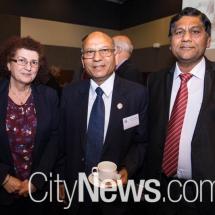 Martha A. Mavrommati, Cyprus high commissioner Rakesh Malhotra and Anil Gupta