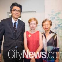 Takashi Yokoyama, Melinda Heal and Kumiko Yokoyama