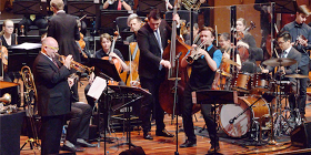 James Morrison plays with the Canberra Youth Orchestra. Photo by Peter Hislop