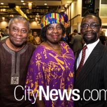 Ebenezer and Evelyn Banful with Dr John Owusu