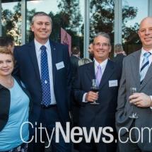 Elizabeth and Peter Dowton, Robert Saunders and Doug Ferguson