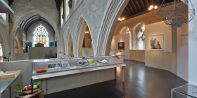 Inside London's refurbished Garden Museum in the church of St Mary of Lambeth.