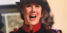 """Sarah Brown, played by Kitty McGarry, in """"Guys and Dolls"""". Masterson"""