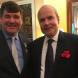 Gonged… Chris Latham with French ambassador Christophe Penot. Photo by Helen Musa