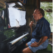 'Larry Composing,' by Angela Parragi