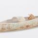 Mekong boat with fishing basket 3, paper porcelain, linoprint.