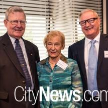 Patrick and Margaret Barrett with Rick Ellis