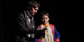 Rohan Vicars as the Aviator and Sigmund Nock as the Prince.