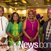 Samuel and Matilda Kumah with Mary and Hakeem Balogun