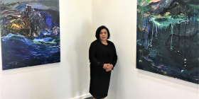 """Principal Nancy Sever in her new Gorman Arts Centre gallery… """"I might be doing as much for artists as the ACT government."""""""