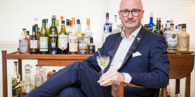 "The Martini Whisperer, Phillip Jones… ""Martinis are like Russian roulette, you just don't know what you're going to get."" Photo by Danielle Nohra"