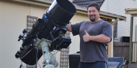 "Michael Sidonio... ""The most profound thing to get from observational astronomy is a sense of perspective and where you fit in the universe."""
