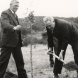 Ben Chifley plants a tree on September 12, 1949, signalling the start of the Botanic Gardens in Canberra.