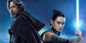 "Mark Hamill as Luke and Daisy Ridley as Rey in ""Star Wars: The Last Jedi""."