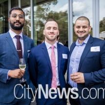 Sai Ranjit, Kieran Walsh and Louis Saad