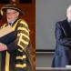 From left, Prof Amin Saikal with ANU chancellor Prof Gareth Evans, and emeritus fellow Colin Steele. Photos by Stuart Hay, ANU