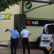 Police at the scene of the Manuka Subway robbery. Photo by Mike Welsh