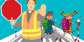 school crossing cartoon