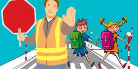 school crossing cartoon