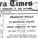 "A heading from the front page of ""The Canberra Times"" in August, 1929."