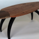 Mitchell's 'beetle'-shaped table.