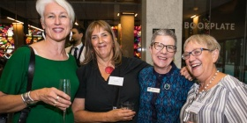 Genevieve Jacobs, Alex Sloan, Marie-Louise Ayres and Robyn Hobbs