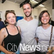 Julia Greenstreet, Elliot Bastianon and Hannah Beasley