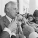 November 11, 1975, and the just-sacked PM Gough Whitlam speaks to reporters. Photo: National Archives of Australia
