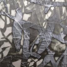 'Lace' 2017 (detail) Porcelain monoprint by Maiju Altpere