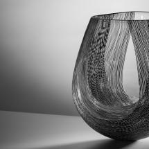 Erin Conron - 'Arc', blown glass with multi-fired enamel, 39 x 34 x 31cm