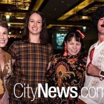 Kate Silk, Angela Douglas with Stephanie and Gary Rake