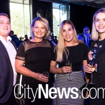 Sean Smith, Karen and Stephanie Dempster, and Gemma Moorefield