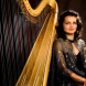 """Harp virtuoso Alice Giles… """"The mood is very magical and there's something haunting about it."""""""