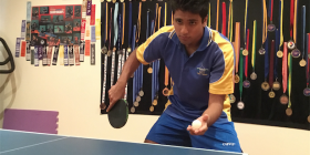 ACT table tennis champ Rohan Dhooria.