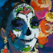 wendy Sharpe, Woman with Roses-Day of the Dead_23x29_Hi_Res