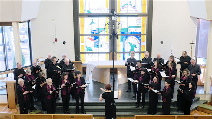 """""""Death and Redemption"""" in full swing at the Girls Grammar School chapel. Photo by Peter Hislop"""