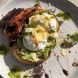 Smashed avo bruschetta… Eggs poached to perfection and the dish all the more exciting with caramelised balsamic and parmesan cheese. Photo by Wendy Johnson