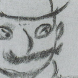 Drawing of Leopold Bloom by James Joyce.