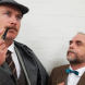 "Holmes (Phillip Meddows) and Dr Watson (Peter Fock) in ""The Hound of the Baskervilles""."