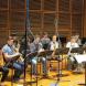 The Sydney Conservatorium of Music Saxophone Orchestra rehearses.