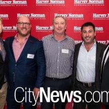 Dane Hobson, Gavin Pound, Lionel Nokes, Adam Reakes and Justin Dubyna