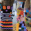 "Queanbeyan's latest yarn-bombing exhibition… ""The Great Queanbeyan Stitch-up"" along a row of plane trees lining the median strip on Morisset Street. Photo by Mike Welsh"