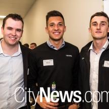 Justin Dove, Stefan Vujic and Lewis Pedersen